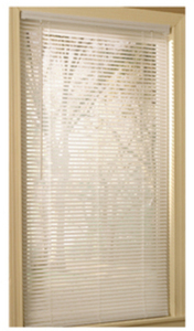 "Project Source 23""x64"" White Vinyl 1"" Slat Mini-Blind"