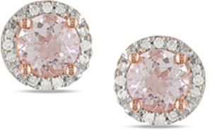 Miadora Morganite & Diamond Earrings