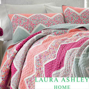 Laura Ashley Ainsley Pieced Cotton Quilt