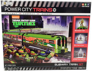 Power City Trains TMNT Subway Set