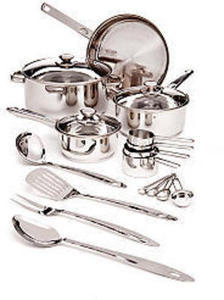 Cook's Tools Cookware 19-PC Stainless Steel Sets