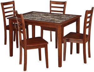 Essential Home Jackson 5 PC Faux Marble Dining Set