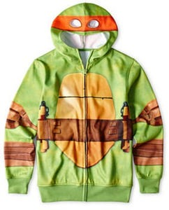 Teenage Mutant Ninja Turtles Boys' Fleece Zip-Front Hoodie