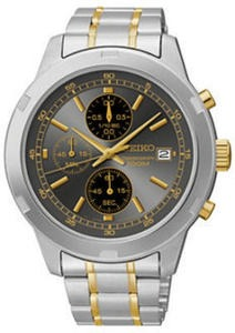 Seiko Mens Two-Tone Stainless Steel Chronograph Watch