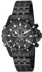 Invicta Mens Black Stainless Steel Chronograph Sport Watch
