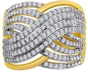 1/2 CT. T.W. Diamond Crisscross Ring
