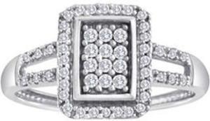 1/3 ct tw 10k White Gold Diamond Ring