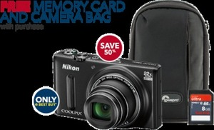 Nikon Coolpix S9600 16.MP Digital Camera w/ Free Memory Card and Bag