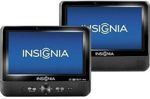 "Insignia 9"" Dual LCD Portable DVD Player"