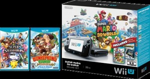Wii U 32GB Super Mario 3D World and NintendoLand Bundle