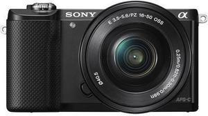 Sony Alpha a5000 Camera with 16-50mm Retractable Lens