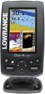 Lowrance Elite-4 HDI Fishfinder/Chartplotter  Free Lake Insight Pro Card and Sun Cover