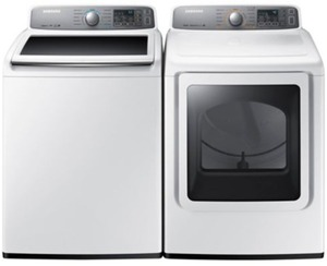 Samsung 4.5 cu. ft. HE Washer & 7.4 cu. ft. Electric Dryer