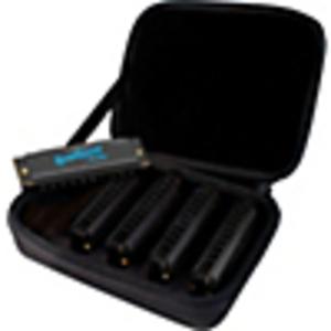 Hohner 5 Piece Blues Harmonica Set w/ Case