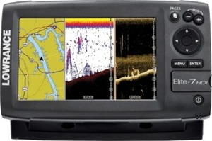 Free Insight Chip, Genesis Chip and Sun Cover w/ Lowrance Elite-7 HDI Combo Purchase