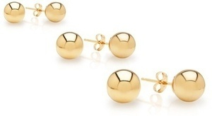 Core 14K Solid Gold Ball Studs (Starts 11/28)
