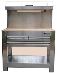 Kobalt 36-in Stainless Steel Heavy-Duty 3-Drawer Workbench