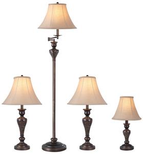 Portfolio Springsley 4-Piece Aged Bronze Lamp Set