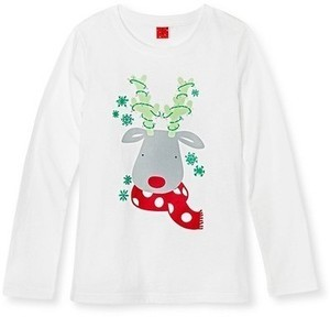 Girls Circo Reindeer Holiday Tee