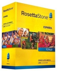 Rosetta Stone Spanish (Latin America) v4 TOTALe - Level 1, 2, 3, 4 & 5 Set