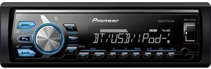 Pioneer - Built-In Bluetooth - Apple iPod-Ready - In-Dash Digital Media Receiver with Detachable Faceplate - Blue