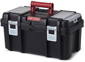 Craftsman 16 Inch Tool Box with Tray - Black/Red