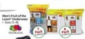 Men's Fruit of the Loom Underwear 7 or 8-Pack
