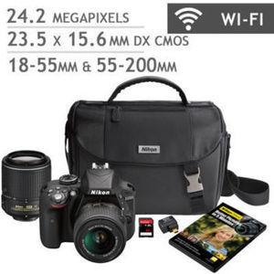 Nikon D3300 DSLR Camera 2 Lens Bundle