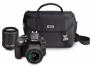 Nikon 24.2 Megapixel Digital SLR Camera with 18-55mm Lens, 55-200mm Lens and Bag
