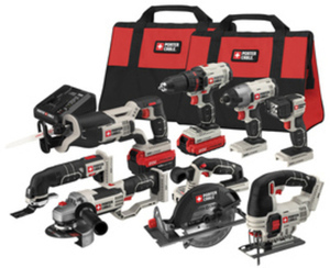 PORTER-CABLE 8-Tool 20-Volt Lithium Ion Cordless Combo Kit with Soft Case