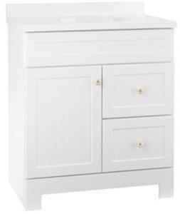 Style Selections Ellenbee White Bathroom Vanity w/ Cultured Marble Top