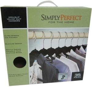 Simply Perfect 35 Non-Slip Velvet Suit Hangers and 15 Bonus Hooks