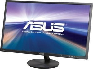"ASUS VN248H-P Slim Bezel Black 23.8"" 5ms (GTG) HDMI Widescreen LED Backlight LCD Monitor IPS 80,000,000:1, Built-in Speakers"