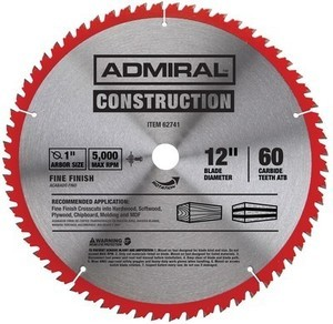 Admiral 12 in. 60T Fine Finish Circular Saw Blade