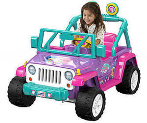 Power Wheels 12V Battery Toy Ride-On Nickelodeon Shimmer and Shine Jeep Wrangler w/ Coupon #1