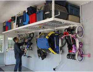 """SafeRacks 4' x 8' Overhead Storage 2-Rack Kit, 12"""" - 21"""" Ceiling Drop SafeRacks 4' x 8' Overhead Storage 2-Rack Kit"""