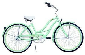 Micargi Tahiti Women's Mint Green 26-inch Beach Cruiser Bicycle
