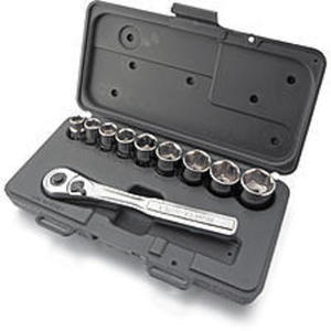Craftsman 10 pc., 6 pt. 3/8 in. Standard Socket Wrench Set