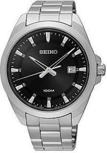 Seiko Men's Special Value Silver Tone with Black Dial