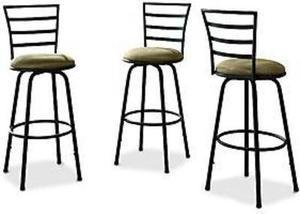 Essential Home Black and Tan Swivel Bar Stools