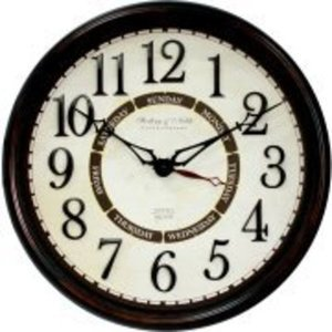 "Better Homes and Gardens 20"" Calendar Wall Clock"