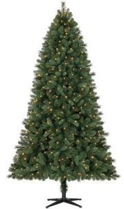 Holiday Time Pre-Lit 7.5' Norwich Spruce Christmas Tree, Color-Changing Lights