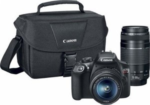 Canon EOS Rebel T6 DSLR Camera w/18-55mm & 75-300mm lens