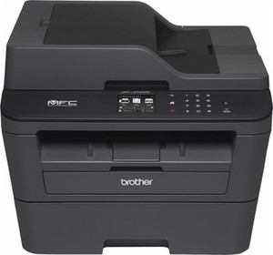 Brother MFC-L2740DW Wireless Black-and-White All-in-One Laser Printer - Black