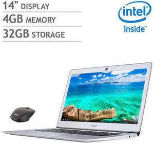 "Acer 14"" Chromebook Bundle w/ Intel Celeron CPU and Bonus Acer Wireless Mouse"