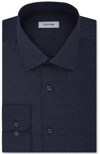 Calvin Klein Men's Classic-Fit Print Dress Shirt