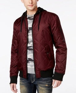 American Rag Men's Quilted Hooded Bomber Jacket