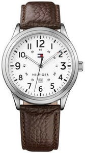 Tommy Hilfiger Men's Table Brown Leather Strap Watch 42mm