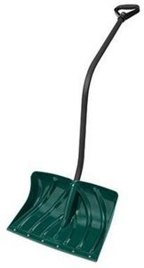 18-Inch Poly Snow Shovel/Pusher With Ergo S-Handle