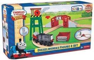 Thomas Friends Wooden Railway Dieselworks Figure 8 Set